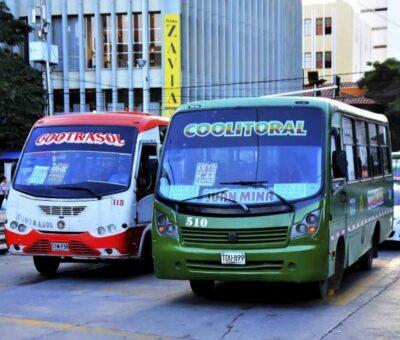 Transporte público seguirá circulando en los fines de semana de toque de queda
