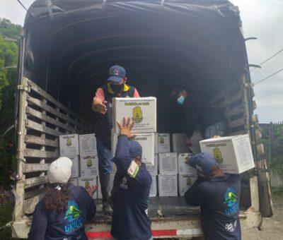 Asistencia humanitaria para familias danmnificadas por el río Guachaca