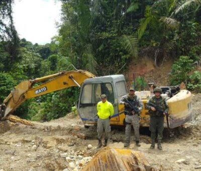 Tres capturados por minería ilegal en el Atlántico