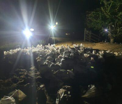 Atienden emergencia registrada por erosión del río Magdalena en Salamina