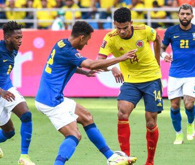 La Selección Colombia no se dejó bailar de Brasil