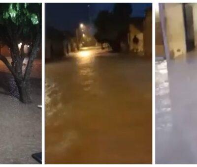 Inundaciones en Pivijay tras fuerte aguacero